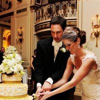 Reception, Flowers & Decor, Wedding Dresses, Fashion, white, green, black, gold, dress