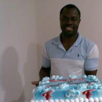 Cakes, white, red, blue, cake