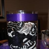 white, purple, black, Decorations, Lingerie shower