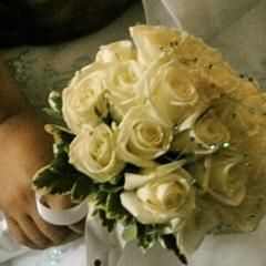 Bouquet, Aqua, Rhinestones