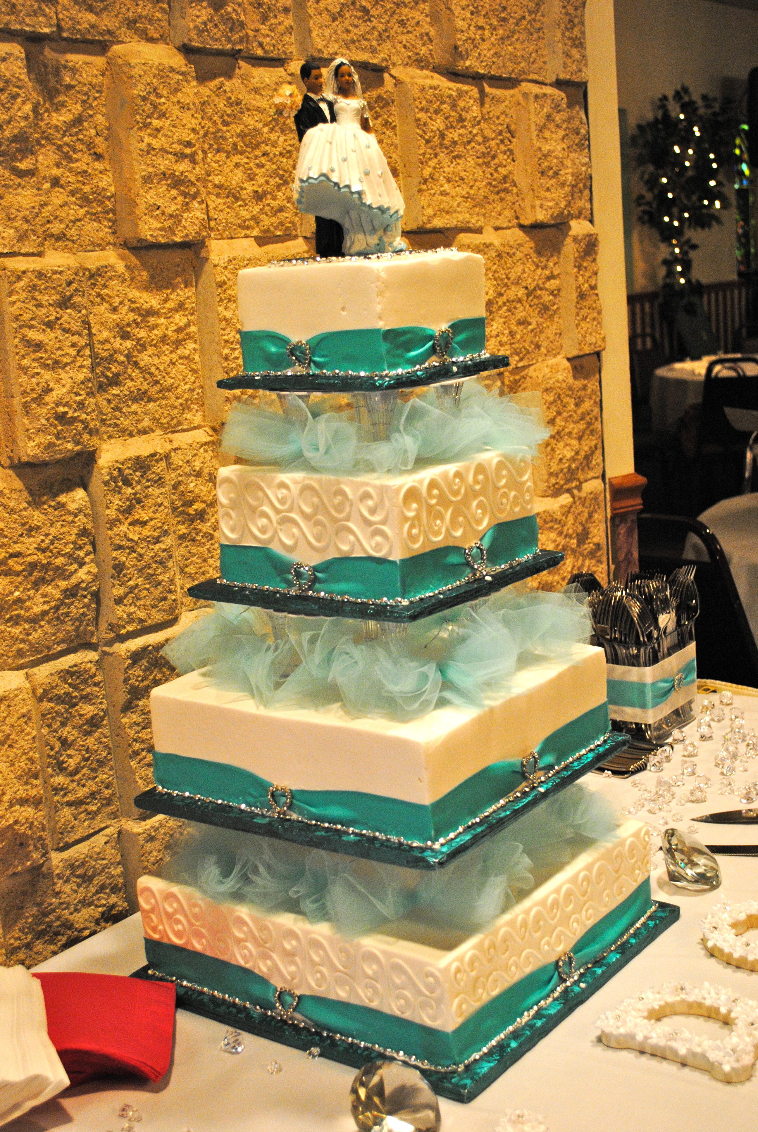 Cakes, blue, cake, Tiffany, Aqua, Heart, Rhinestones, Buckle, Turqouise