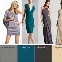 Bridesmaids, Bridesmaids Dresses, Fashion, blue, green, silver, Inspiration board, Mismatched