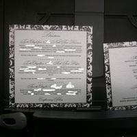 Stationery, black, silver, invitation, Invitations, My, Damask