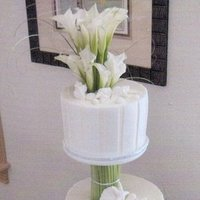 Reception, Flowers & Decor, Cakes, white, blue, brown, silver, gold, cake, Inspiration board