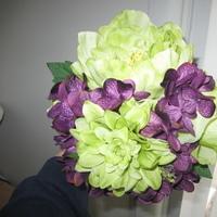 Flowers & Decor, Bridesmaids, Bridesmaids Dresses, Fashion, purple, green, Bride Bouquets, Bridesmaid Bouquets, Flowers, Roses, Bouquet, Of, Hydrangea, Honor, Maid, Flower Wedding Dresses