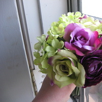 Flowers & Decor, Bridesmaids, Bridesmaids Dresses, Fashion, purple, green, Bride Bouquets, Bridesmaid Bouquets, Flowers, Roses, Bouquet, Hydrangeas, Flower Wedding Dresses