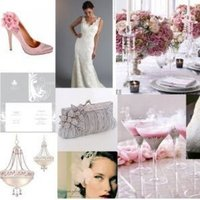 pink, silver, Inspiration board