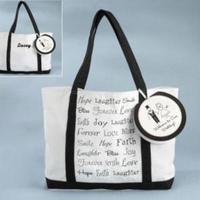 Reception, Flowers & Decor, Favors & Gifts, Bridesmaids, Bridesmaids Dresses, Fashion, white, black, favor, Favors, Gifts, Wedding, Party, Bridesmaid, Welcome, Inspiration board, Bag, Personalized, Tote, Canvas