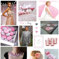 pink, green, silver, Inspiration board