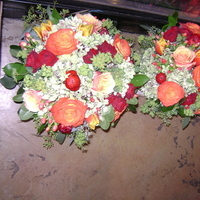 Ceremony, Reception, Flowers & Decor, white, yellow, orange, pink, red, green, brown, gold, Ceremony Flowers, Flowers