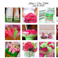 pink, green, Inspiration board