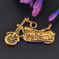Ceremony, DIY, Flowers & Decor, gold, Programs, Motorcycle, Charms