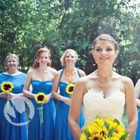 Flowers & Decor, Bridesmaids, Bridesmaids Dresses, Fashion, yellow, blue, Bridesmaid Bouquets, Flowers, Flower Wedding Dresses