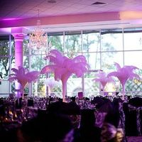 Beauty, Reception, Flowers & Decor, white, purple, black, Feathers, Centerpieces, Centerpiece, Damask, Tower, Feather, Ostritch