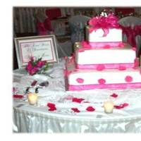 Ceremony, Flowers & Decor, Cakes, white, pink, silver, cake