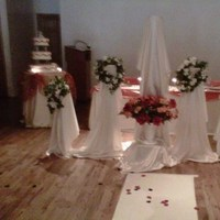 Ceremony, Flowers & Decor, white, orange, brown, silver, gold