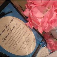 Stationery, pink, blue, Invitations