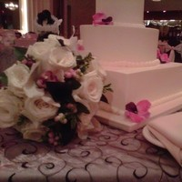 Reception, Flowers & Decor, Cakes, pink, red, purple, gold, cake, Inspiration board