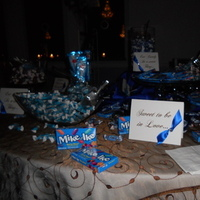 Reception, Flowers & Decor, Favors & Gifts, blue, brown, Favors, Candy, Buffet, Inspiration board