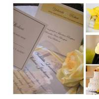 Ceremony, Reception, Flowers & Decor, Bridesmaids, Bridesmaids Dresses, Cakes, Fashion, white, yellow, silver, gold, cake, Inspiration board