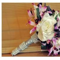 Ceremony, Reception, Flowers & Decor, Bridesmaids, Bridesmaids Dresses, Wedding Dresses, Fashion, white, pink, purple, silver, dress, Ceremony Flowers, Bride Bouquets, Bridesmaid Bouquets, Flowers, Bouquet, Bridal, Inspiration board, Flower Wedding Dresses
