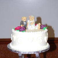 Cakes, pink, purple, cake