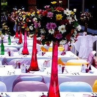 Reception, Flowers & Decor, white, yellow, red, gold, Flowers