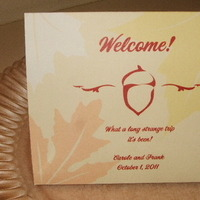 Reception, Flowers & Decor, orange, brown, gold, Cards, Welcome, Bag, Print, Vista, Dw