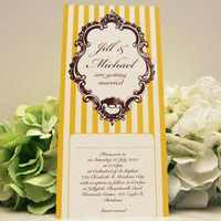 Stationery, white, yellow, Invitations