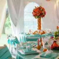 Reception, Flowers & Decor, blue, Tablecloths