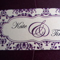 Stationery, purple, Invitations, Monogram, Pocketfold