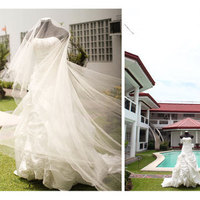 Ceremony, Reception, Flowers & Decor, Bridesmaids, Bridesmaids Dresses, Wedding Dresses, Shoes, Fashion, red, dress, Ceremony Flowers, Bridesmaid Bouquets, Flowers, Flower Wedding Dresses