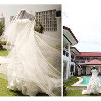 Ceremony, Reception, Flowers & Decor, Bridesmaids, Bridesmaids Dresses, Wedding Dresses, Fashion, red, dress, Ceremony Flowers, Bridesmaid Bouquets, Flowers, Flower Wedding Dresses