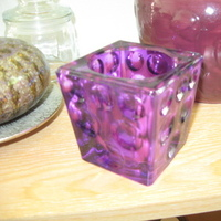 Reception, Flowers & Decor, Decor, Favors & Gifts, purple, green, Favors, Centerpieces, Candles, Centerpiece, Table