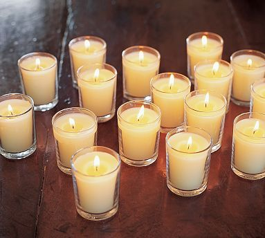 Candles, Cream, Votive, Holders, Votives