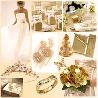 white, gold, Inspiration board