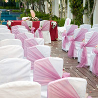 Ceremony, Flowers & Decor, white, pink