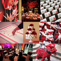 Reception, Flowers & Decor, red, Inspiration board