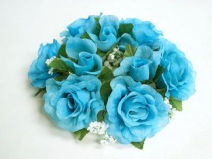 Flowers & Decor, white, blue, Flowers
