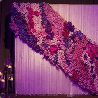 Reception, Flowers & Decor, pink, purple, silver, Flowers