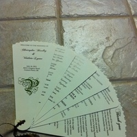 Ceremony, Flowers & Decor, green, brown, Programs, Fan
