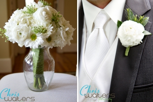 Flowers & Decor, white, green, Bride Bouquets, Boutonnieres, Bride, Flowers, Bouquet, Groom, Lace, Boutonniere, Hydrangeas, Daisies, Bout, Ranunculus, Annes, Queen