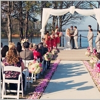 Flowers, white, pink, green, Ceremony, Aisle, Petals, Lake, Arch, Draping, Pomanders, Lakeside, Hooks, Shepherds, Flowers & Decor, Ceremony Flowers, Aisle Decor