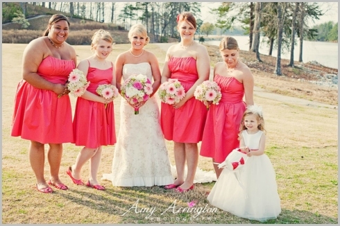 Flowers & Decor, Bridesmaids, Bridesmaids Dresses, Fashion, white, pink, green, Bride Bouquets, Bridesmaid Bouquets, Bride, Flowers, Roses, Bouquets, Peonies, Hydrangeas, Daisies, Lisianthus, Flower Wedding Dresses