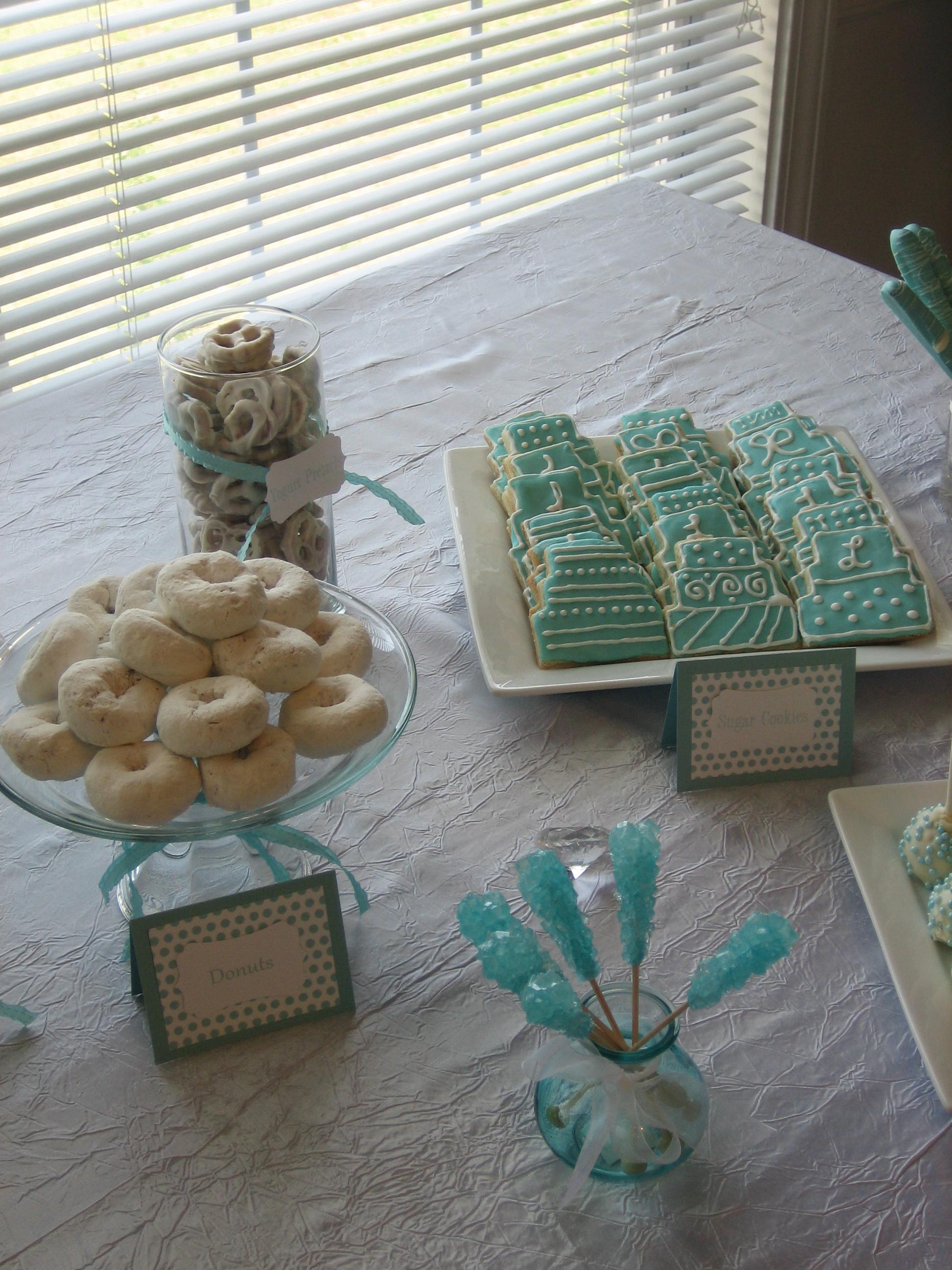Flowers & Decor, Decor, blue, Cupcakes, Dessert, Aqua, Bar, Shower, Tiffanys