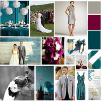 burgundy, silver, Teal, Inspiration board