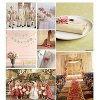 white, ivory, pink, gold, Inspiration board, Coral