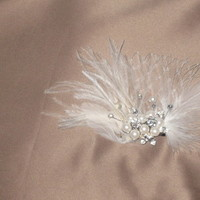 Beauty, Feathers, Crystal, Pearl, Fascinator, Hairpiece, Feather