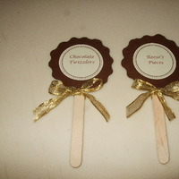 DIY, Reception, Flowers & Decor, brown, gold, Candy, Buffet, For, Labels, Lollipop