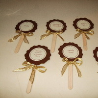 Reception, Flowers & Decor, Favors & Gifts, brown, gold, Favors